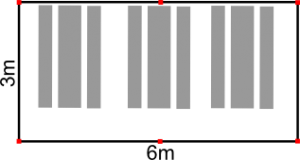 Sitzplan 3x6m Zelt